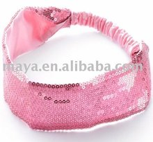 fashion pink sequin headband