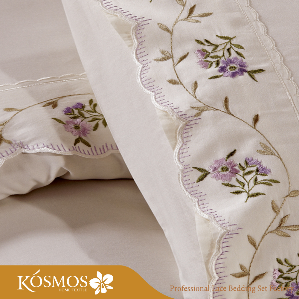 lace embroidery poly cotton home choice bedding