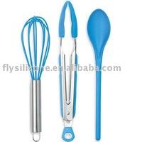 Heat Resist Kitchen Sundries(Balloon Stainless Steel Whisk w/ Silicone)