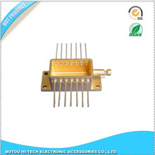 au plating butterfly package fiber optic kovar package leads crossing bottom or sidewall