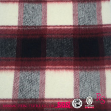 Wholesale 100% Polyester Twill Plaid Fabric for Garment Coat