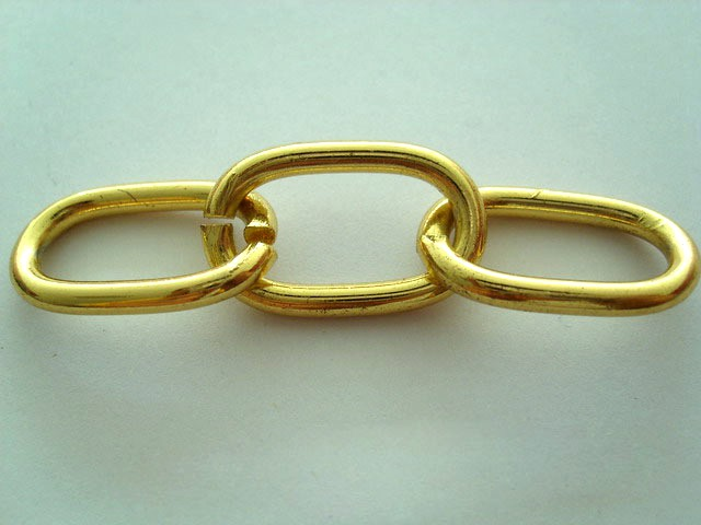 18K gold bag decorative metal chain used to dog collar