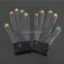 Raver Hands LED Light Fingers Pair of Gloves (Multi Tri-Color