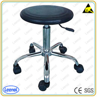 Adjustable PU Leather ESD Lab Stool Bar Stool