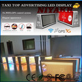 3G/WIFI/GPS/USB Mobile Advertising Wireless LED Taxi Roof Sign