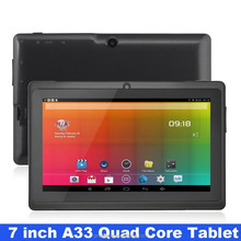 7 inch Allwinner A33 Tablet 7 Touch Screen Capacitive Quad core WIFI OTG External 3G 512MB mini Cheap Android 4.2 Tablet PC Q88