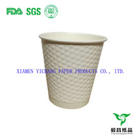10oz ripple paper cup diamond paper cup double wall white paper cup