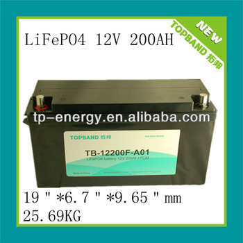 lithium ion battery 12v/12.8V 200ah for energy storage/ups/solar system