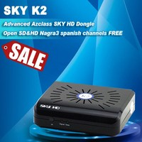 discount for wireless transmitter Azclass Sky HD K2 Nagra3 Satelite receiver HD 1080P,internet satellite sharing receiver dongle