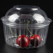 Hot sale & high quality 8oz plastic baby transparent food container with dome lid