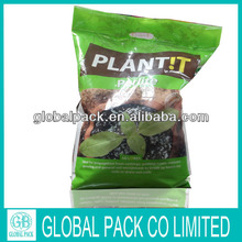 Stand up plastic food pouch/plastic bag with handle/stand up bag with ziplock