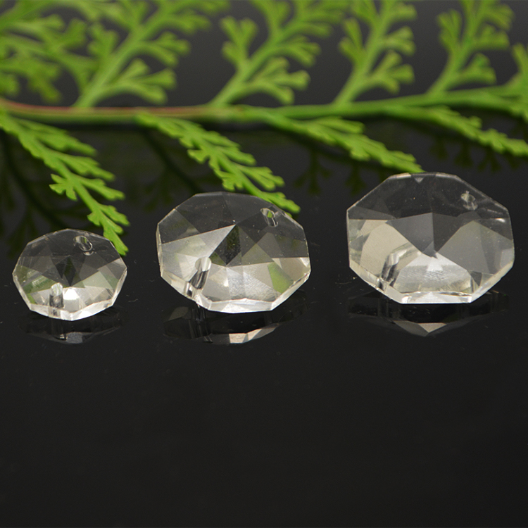 China cheap wholesale clear octagon crystal beads for chandelier trimming