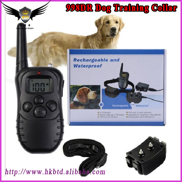 For 1 dogs 100lv shock vibra LCD display 998DR Remote Control Dog Training Collar Rechargeable Waterproof Pet Training Collar
