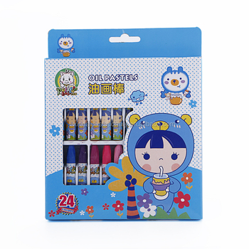 24 color cute oil pastels for kids gift (crayons)