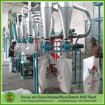 China supplier Energy saving automatic corn flour milling machinery