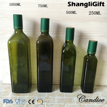 Square Glass Olive Oil Series 4 Size Cooking Oil Glass Bottle