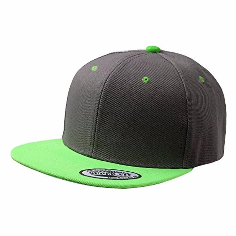 Hot two-tone contrast color 6 panel plain blank snapback hat wholesale cheap