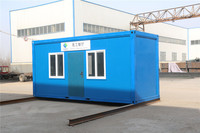 2016 Flatpack Prefab from 20ft 40 shipping work house container portable for Algeria