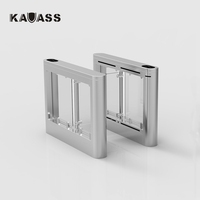 Automatic pedestrian access control system waist high 304 stainless steel swing barrier gate with RFID card/fingerprint reader