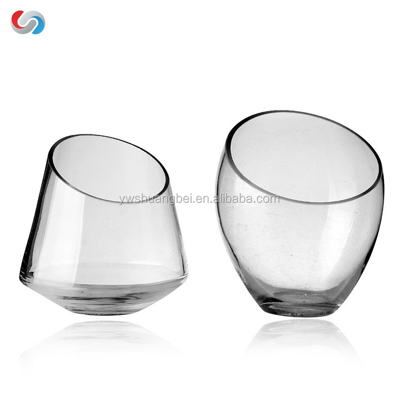 Decorative Modern Round Clear Glass Vases / Bowl Candleholders / Air Plant Terrarium Cups