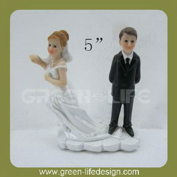 "4"" Resin wedding table decoration Black white wedding table decorations"