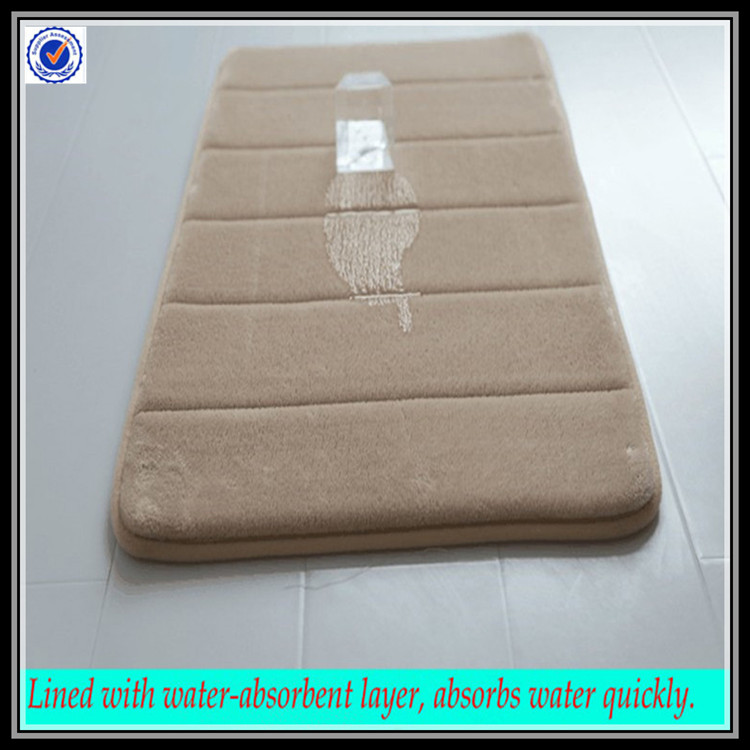 Microfiber polyester bathroom floor bathmats 3 piece