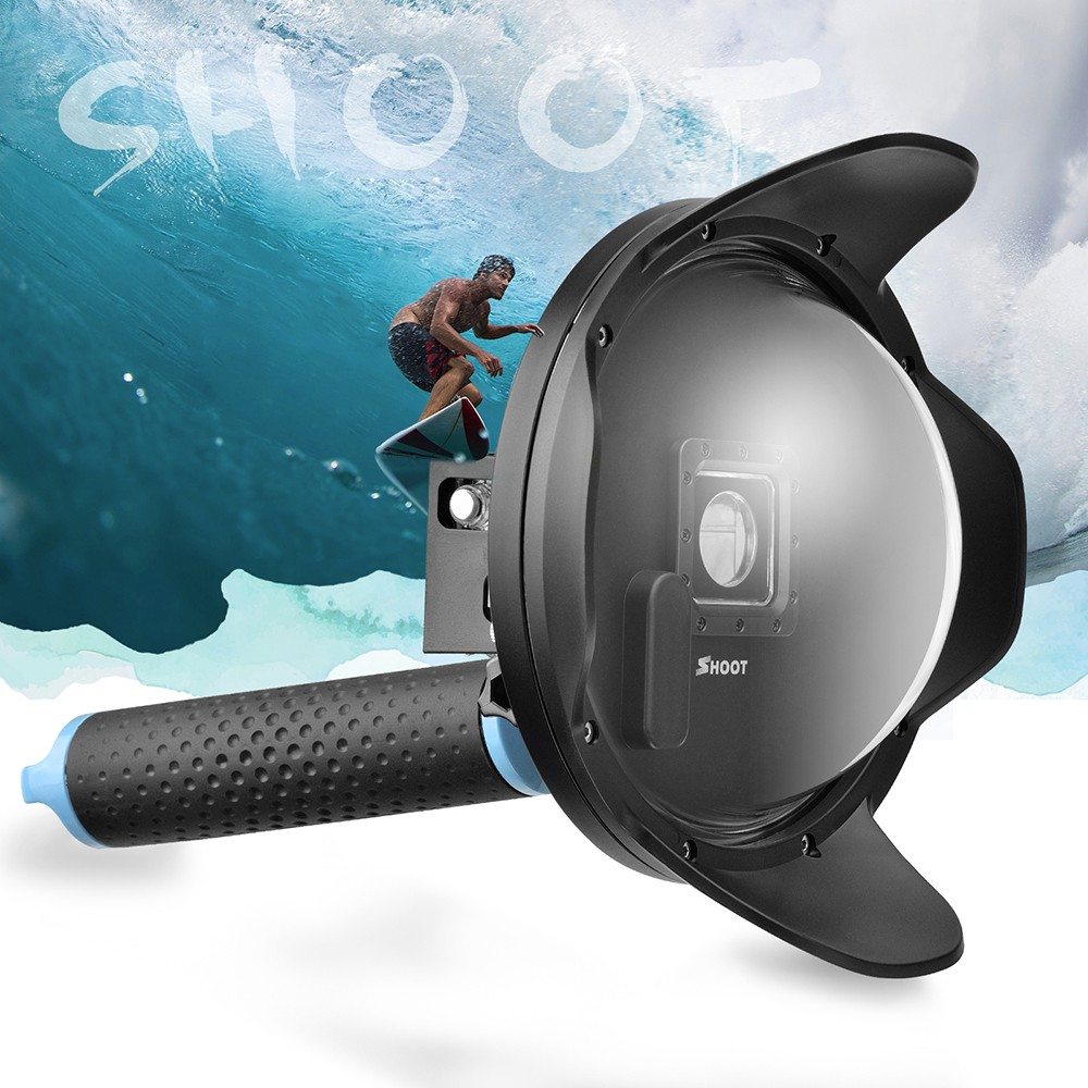 SHOOT 6 inch Dome for GoPro for the Hero4 3+ and Dome Port Transparent Cover Lens Hood LCD Screen