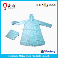 2015 popular design wholesale high quality blue style raincoat