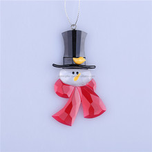 new style christmas decoration snowman head with winter scarf ornament