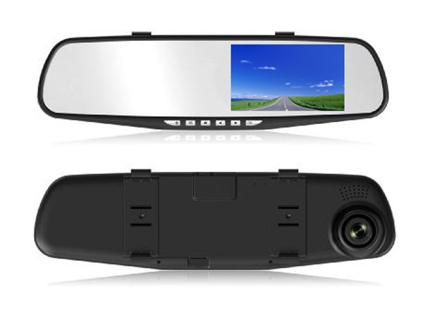 Hot 1080P+720P 4.3 Inch Rearview Mirror FHD 1080P Car DVR