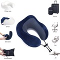 Amazon customized neck relaxing chin support adjustable U shape pillow for car plane life