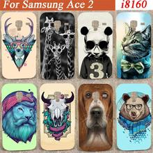 Cartoon lovely Colorful cute animals desing hard Case Cover For Samsung Galaxy Ace 2 II i8160 pattern colorful cover case