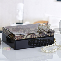 Festive Gift Mirror Antique Jewelry Box