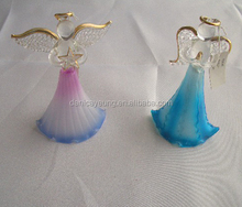 Hand blown glass angels of christmas ornaments for decorations