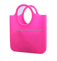 fashionable lady portable silicone bag and wateproof beach bag and shopping bag