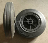 5 inch small solid rubber wheels for hotel luggage cart, shopping trolley, 125/37.5-50