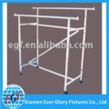 Adjustable Double Bar Metal Clothing Display Stand