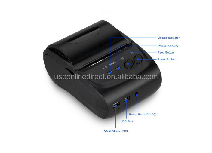 Mini Receipt Wireless Bluetooth Printer 58MM Portable Mobile Thermal Printer