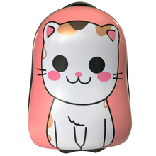 cute penguin shape cat printed kids travel luggage