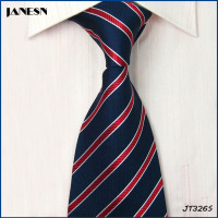 wholesale mens silk stripe cheap necktie can be custom