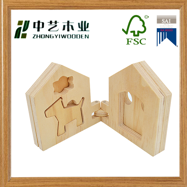OEM&ODM handmade unfinished eco wooden toys for children plywood cutting toys