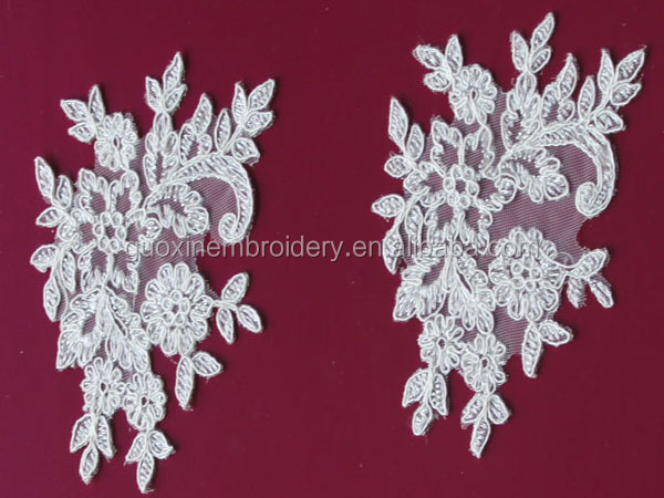 Hot selling fabric lace trim textile for wedding dresses 2015