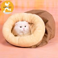 Comfortable soft foldable convenient burrow cat tunnel bed wholesale