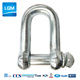 European type D shackle Commercial Large Dee shackle