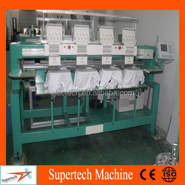 Full Automatic 4 Heads Computer Embroidery Machine Price For Garment/ Caps/Flat