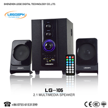 2.1 cheap multimedia bluetooth speaker portable subwoofer speaker active pa speaker with home theater system