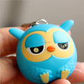 little 3D owl keyring with light/make your own design fantasy keyrings