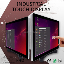 "19"" LED industrial touch screen monitor Front panel IP65"