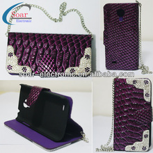 Handbag with chain bling bling case for samsung galaxy s4 mini i9190