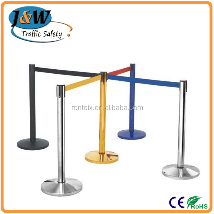 Stainless Steel Strap Barrie r/ Crowd Control Pole / Queue Belt Stanchion